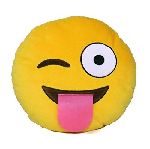 "Emoji - Tongue Plush - Emoti Pillow - 32cm 12.5"""