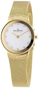 Skagen Damen-Armbanduhr XS Analog Quarz Edelstahl beschichtet 812SGG