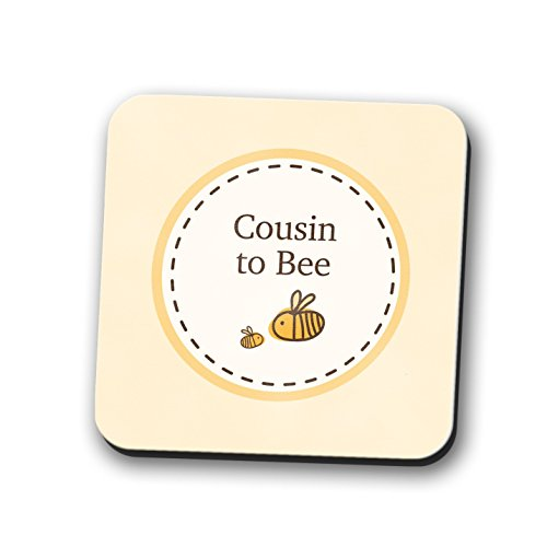 tzer Tischset New Baby Dusche Geschenk Bumble Bee quadratisch 9cm x 9cm (Bumble Bee Baby-dusche)