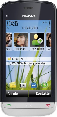 Preisvergleich Produktbild Nokia C5-03 Smartphone (8.1cm (3.2 Zoll) Touchscreen,  3.5mm Klinkenbuchse,  Ovi Karten,  GPS) aluminium grey