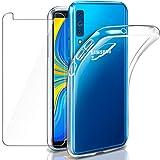 Funda + Cristal para Samsung A7 2018, Leathlux Transparente Galaxy A7...