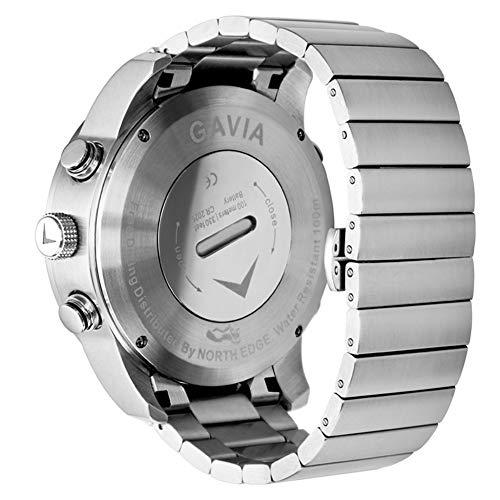 JASSB Men Sport Watch, Men's Smart Watches/Luxury Full Steel Business Waterproof 100 Meters/Altimeter/Compass