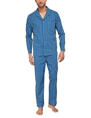 Seidensticker Herren Zweiteiliger Schlafanzug Pyjama Lang, Gr. 58, Grün (grün 700) (Hose Pyjama Gewebte Nachtwäsche)