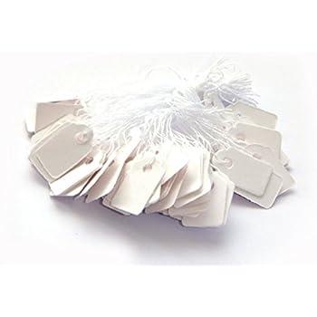 MissBirdler 100 Stk Elegante Kleine Anh/ängeschilder Gold-Wei/ß mit Schnur Faden Etiketten Preisschilder Namensschilder Kraftpapier Karton Tags Labels mit Goldrand Basteln Geschenke Hochzeit Babyshower