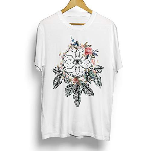 Camiseta de algodón para Mujer con diseño de atrapasueños Blanco Blanco 60