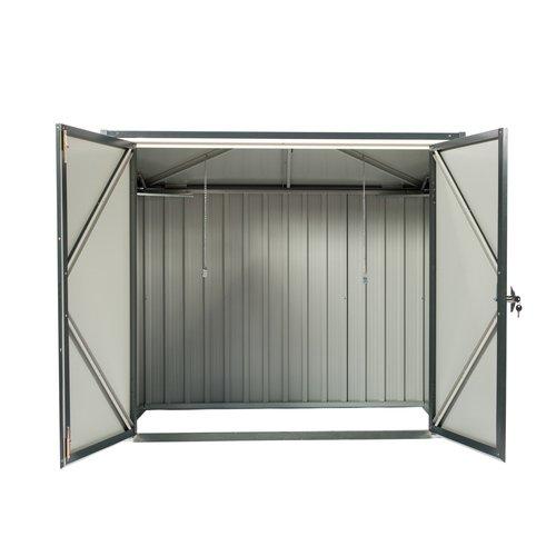 Tepro Mülltonnenbox, anthrazit / weiß, 154.2 x 96 x 130.5 cm - 9