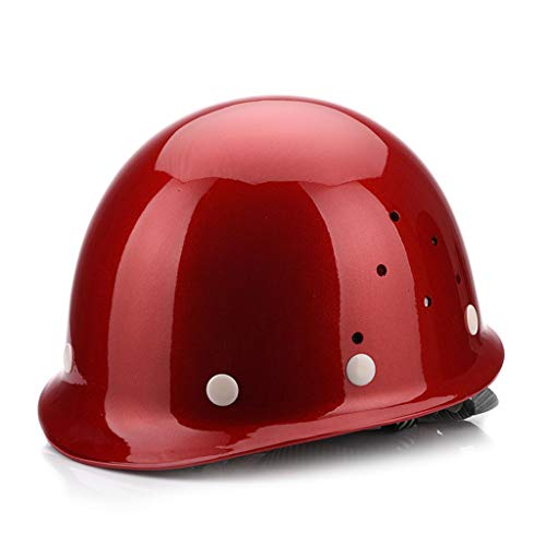 ZXW FRP Helm Baustelle Bauingenieurwesen Breathable Labour Insurance Power Construction Miner (Farbe : Weinrot)