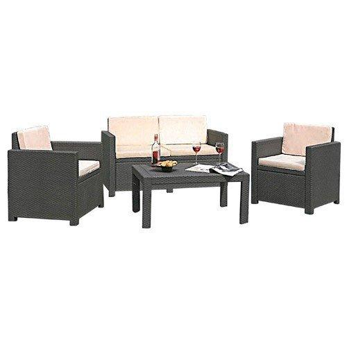 Lounge-Auflagen-Set-Victoria-Allibert-elfenbein-Sitzauflage-Auflage-Garten-NEU