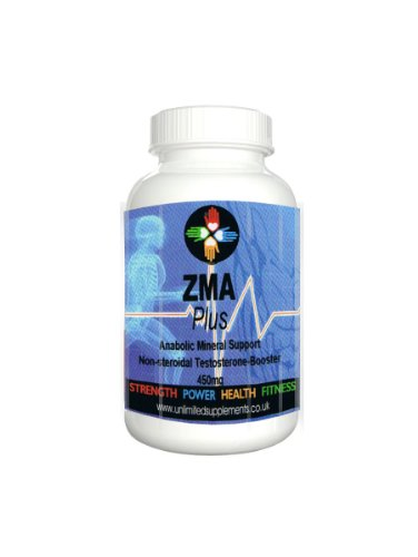 ZMA PLUS 1000mg x 180 vegan capsules of pure Product – Advanced Anabolic Mineral Support. Non Steroid, Magnesium Asparatate, Zinc, Vitamin B6. 100% clinically proven to increase Testosterone levels and strength for individuals involved in any intense weight and or exercise, bodybuilding training programs. 100% Pure ingredients. Suitable for vegans.