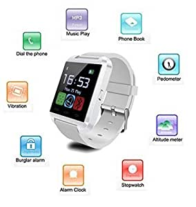ESTAR Wrist Watch Phone with Bluetooth, Camera & SIM Card Support Hot Fashion New Arrival Best Selling Premium Quality Lowest Price with Apps like Facebook, Whatsapp, QQ, WeChat, Twitter, Time Schedule, Read Message or News, Sports, Health, Pedometer, Sedentary Remind & Sleep Monitoring, Better Display, Loud Speaker, Microphone, Touch Screen, Multi-Language, COMPATIBLE with ESTAR Acer beTouch E210
