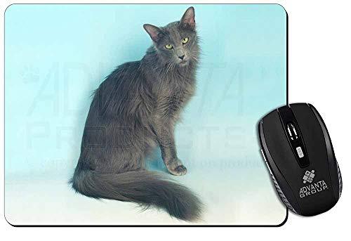 Silver Grey Javanese Katze Computer-Maus -Matte / pad Weihnachtsgeschenk -