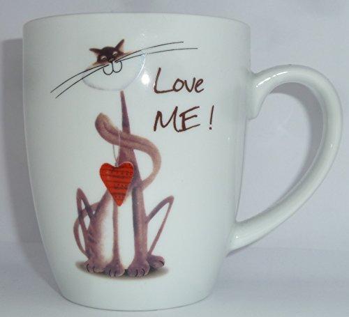 Teetasse Katze Whispi aus Porzellan