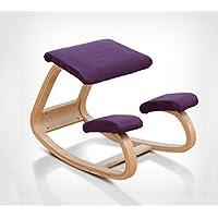 anti-humpback taburete silla, madera maciza silla de montar un ordenador silla silla de posición de sentado correcta Corrección vertebral Yoga silla silla de rodilla silla de estudiante simplicidad moderna silla de aprendizaje infantil (50cm, posición sentada