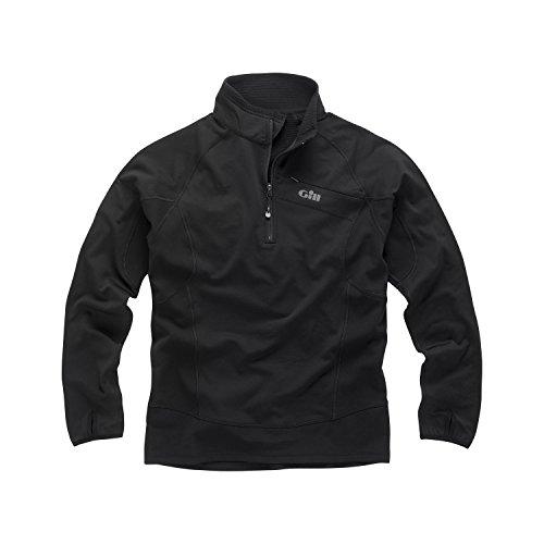 Gill Men's Thermogrid Zip Neck Fleece BLACK 1333 Sizes- - ExtraLarge