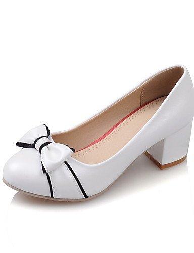 WSS 2016 Chaussures Femme-Bureau & Travail / Décontracté-Noir / Rose / Blanc-Gros Talon-Confort / Bout Arrondi-Chaussures à Talons-Polyuréthane pink-us8 / eu39 / uk6 / cn39