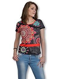 101 Idees – Tee Shirt mujer manga corta – Tee Shirt mujer talla L-XL diseños clásicos de colores