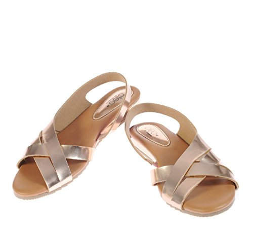 Cleo from Khadims Womens Bronze Brown Faux Leather Flats - 8