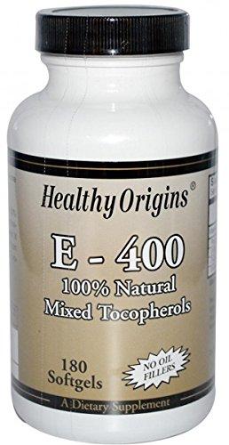 Healthy Origins, E-400, 180 Kapseln -