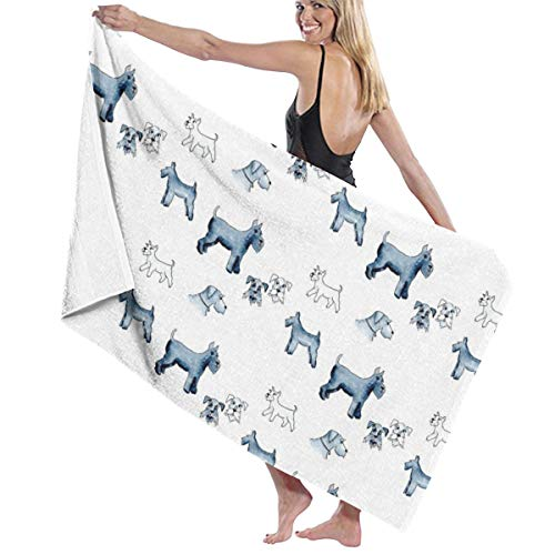 Standard and Mini Schnauzers Large Towel Blanket for Travel Pool Swimming Bath Camping Yoga Girl Women Men 32 X 52 Inch (Wraps Mini Polo)