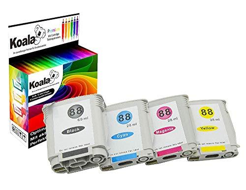 Koala - 4 Cartuchos Tinta compatibles HP 88XL HP Officejet