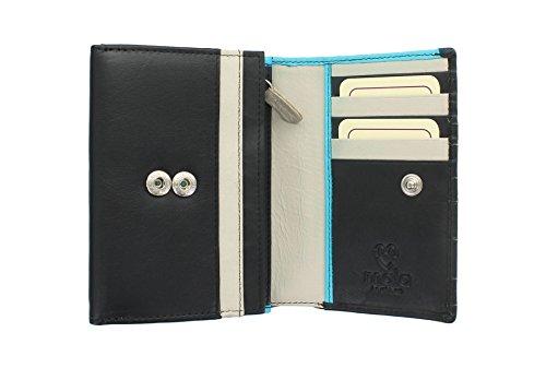 Mala ASTOR pelle Leather Collection applique del fiore borsa 3399_95 Viola Black