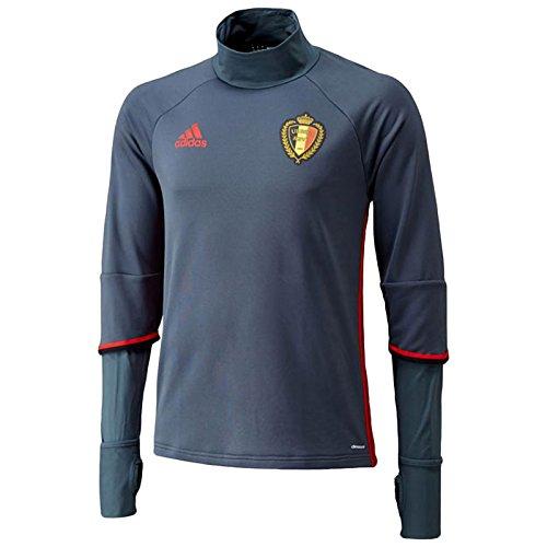 adidas Herren Sweatshirt RBFA Belgien Trainingsoberteil, Boonix/Scarle/Black, XS, AC5771