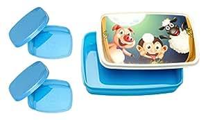 Signoraware Night Safari Plastic Lunch Box Set, 3-Pieces, Blue