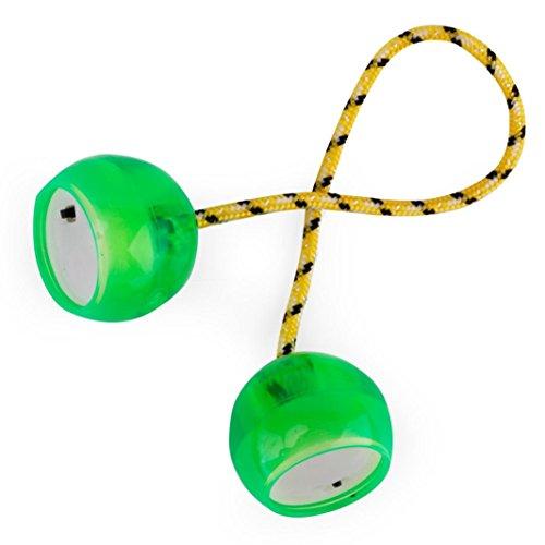 Omiky® LED Bündel Control Roll Spiel Knöchel Finger Ball Anti Stress Spielzeug (Grün) (Knöchel-tab)