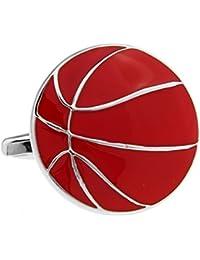 Sport Basketball Manschettenkn/öpfe Silber Paint Vergoldung Manschettenkn/öpfe