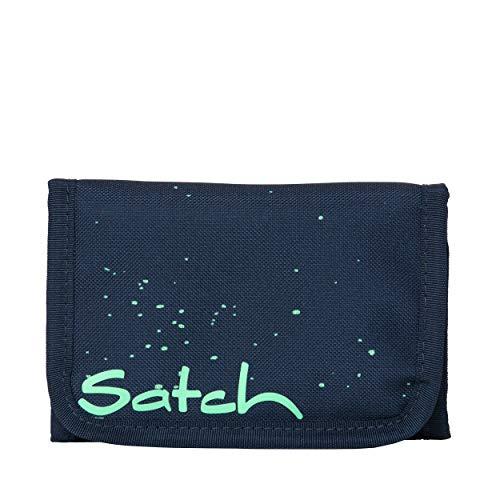 Satch Wallet Space Race Dokumententasche Freizeit und Sportwear Unisex Kinder Blau Speckled (Grün), Einheitsgröße
