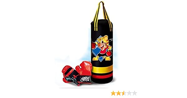 Vetrineinrete® Sacco boxe con guantoni con effetti sonori gioco per bambini allenamento pugilato sacca box da appendere B48