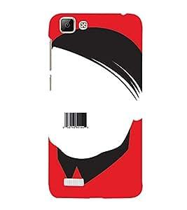 PrintVisa Funny Hitler Design 3D Hard Polycarbonate Designer Back Case Cover for VivoV1