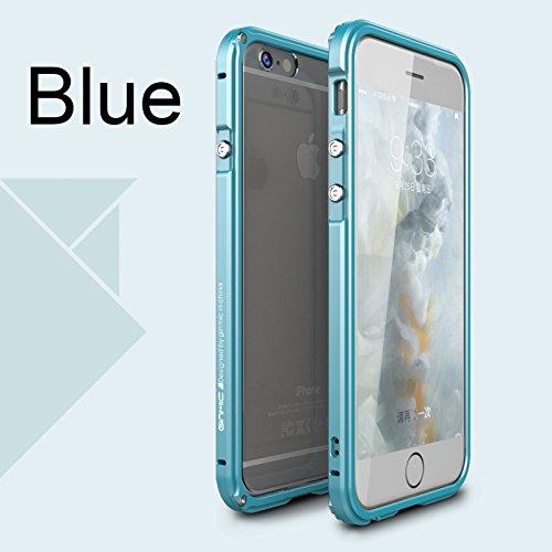 Dulaxie - Luftfahrt-Aluminiumstoßdämpfer für iPhone 6 6s 6 Plus 6s und PC-transparente Rückseite Case Schutzmetallrahmen Abdeckungen [Blau für iPhone 6 6s Plus] - Iphone Otterbox-fälle 6 Blau