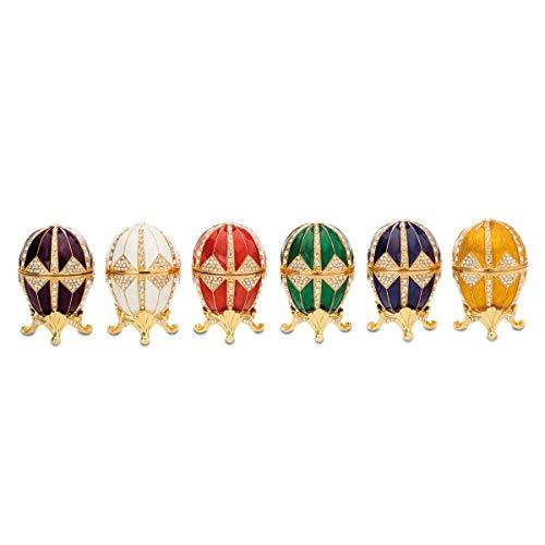 H.Bauer jun. edles vergoldetes Eierbecher Set vergoldet rot, weiß, gelb, grün, blau, lila Ø 4 cm...