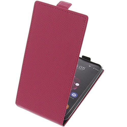 foto-kontor Tasche für Oukitel U20 Plus Smartphone Flipstyle Schutz Hülle pink