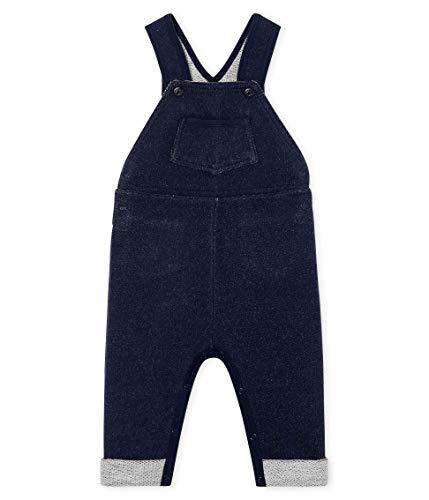 Petit Bateau Baby-Jungen Salopette Longue_5015001 Latzhose, Blau (Smoking 01), 98 (Herstellergröße: 36M/95cm)