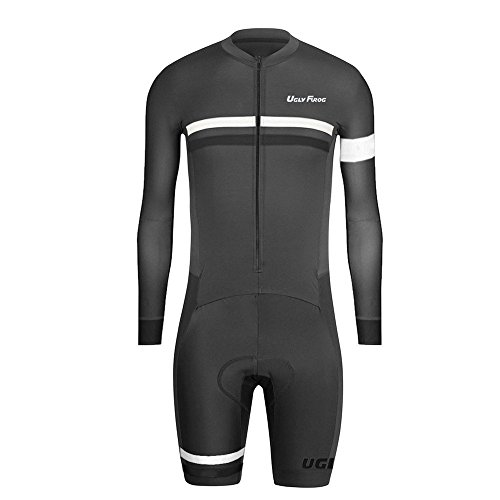 UGLYFROG ROPA MANGA LARGA HOMBRE MAILLOTS CICLISMO PIERNAS CORTAS SKINSUIT WITH GEL PAD TRIATLON CLOTHES HCLT06