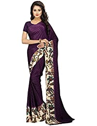 The Fashion Outlets Women's Silk Saree With Blouse Piece - 04_FO_PURPLE_Free Size