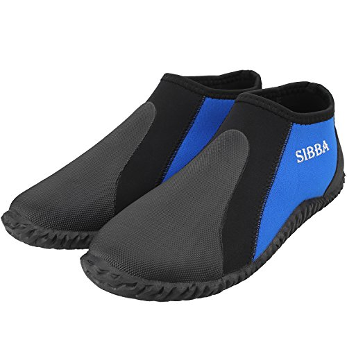 Sibba und Blau Unisex mit 5 Schuhe Herren Neopren MM 5 Damen Tauchen Wassersportschuhe Stiefel Schwarz MM Premium Professionelle 3 rrgdqH7wxU