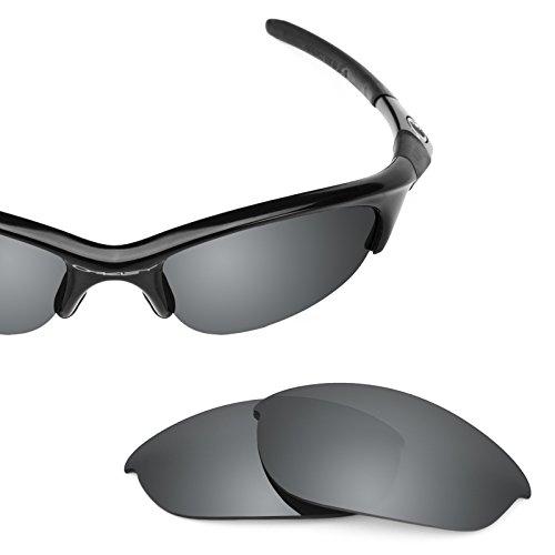 Revant Ersatzlinsen für Oakley Half Jacket Polarisierung Elite Schwarz Chrom MirrorShield®