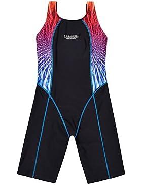 Perfashion Mädchen Badeanzug Schwimm Boyleg Sports Badeanzug mit Bein Schwimmanzug Badenmode