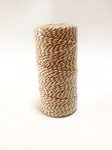 100 Metres Bakers Twine Christmas X's Mas Divine Wedding String