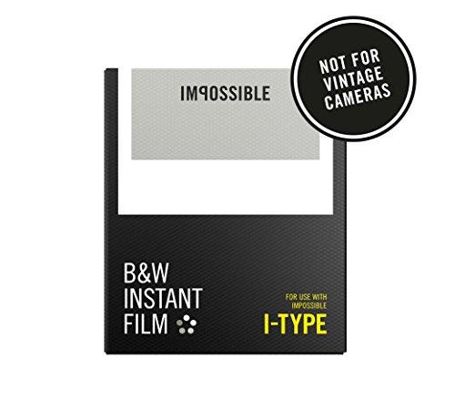 Impossible - 4521 - Nouveau : pellicule N&B pour Appareil Impossible I-Type (9001) - cadre blanc - 8 feuilles par boîte