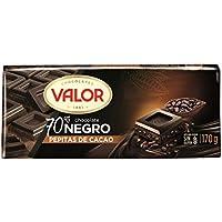 Valor 101047 Chocolate Negro 70% Con Pepitas De Chocolate Tableta 170 gr