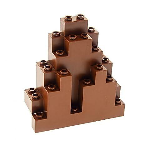 1 x Lego System Fels reddish rot braun 3 x 8 x 7 Triangular (LURP) Felsen Panele Spitz Berg Stein Wand Burg Castle für Set 8780 8637 8877 6083
