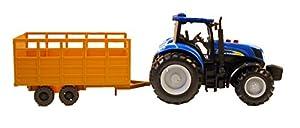 New Ray 1956 New Holland T7070 - Tractor con Remolque