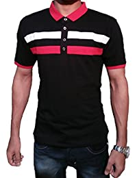 TFT Men's Cotton Polo Neck Half Sleeve T-Shirts