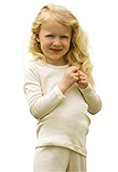 Kinder Unterhemd langarm, Wolle extrafein, Gr. 164