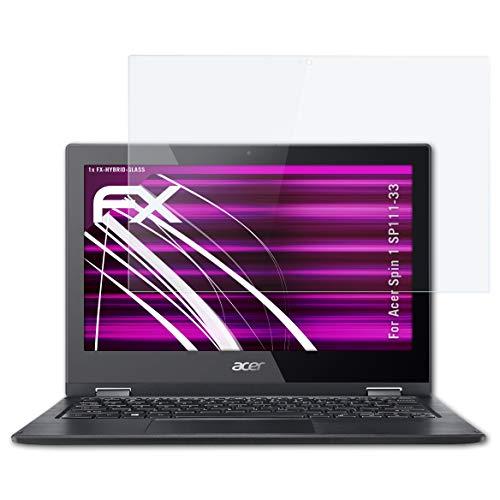 atFolix Glasfolie kompatibel mit Acer Spin 1 SP111-33 Panzerfolie, 9H Hybrid-Glass FX Schutzpanzer Folie