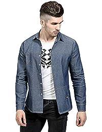 ca63577fda Amazon.it: camicia di pizzo - Blu / Uomo: Abbigliamento